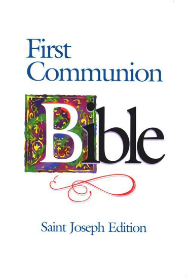 Picture of NAB Bible First Communion Saint Joseph edition Paperback Blue by Catholic Book Publishing Corp